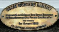 Old GWR plate.<br><br>[John Furnevel&nbsp;30/10/1998]