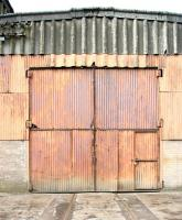The former Bathgate shed No 4 road with original doors and track still in place on 18 May 2005.<br><br>[John Furnevel&nbsp;18/05/2005]