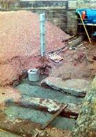 Drainage and works at the north end of Larkhall Station.<br><br>[Mark D. Young&nbsp;07/05/2005]