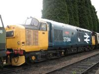 Former Eastfield resident�no 37314 stands at Loughborough Central on 26 July.<br><br>[Mark Poustie&nbsp;26/07/2010]