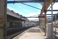 Looking out from the concourse at Gourock on 29 July 2010.<br><br>[Colin Miller&nbsp;29/07/2010]