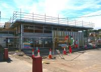 Work finally underway on the long-awaited new station at Gourock. Seen here on 29 July 2010. <br><br>[Colin Miller&nbsp;29/07/2010]
