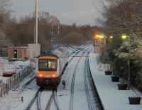 A Norwich to Great Yarmouth service leaves Brundall in December 2009<br><br>[Ian Dinmore&nbsp;/12/2009]