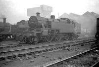 Fowler 2-6-4T no 42313 stands on Kingmoor shed in July 1960.<br><br>[Robin Barbour Collection (Courtesy Bruce McCartney)&nbsp;09/07/1960]