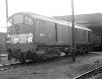 Metrovick D5716 stands on Carnforth shed in 1968.<br><br>[Jim Peebles&nbsp;//1968]