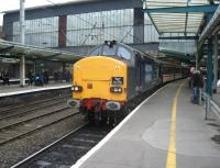 DRS 37610 at Carlisle with Spitfire Railtours <I>Cumbrian Crusader 3</I> following arrival from Crewe on 31 July 2010.<br><br>[Michael Gibb&nbsp;31/07/2010]