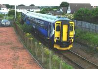 The 11.05 Kilmarnock - Girvan passes Barassie on 27 July 2010. [See image 26338 for the same place forty-seven years earlier years earlier]. The later viewpoint from the footbridge is necessary due to the subsequent addition of fencing.<br><br>[Colin Miller&nbsp;27/07/2010]