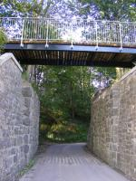 A replacement deck is now in place on the former railway bridge at Eshiels, just to the east of Peebles. Part of the new cycle route between Peebles and Innerleithen [see image 10812]<br><br>[Colin Harkins&nbsp;17/07/2010]