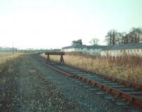 Scene at Kelso in 1968, with lengths of track removed and buffer stops installed. View is west towards Kelso Junction and St Boswells.<br><br>[Bruce McCartney&nbsp;//1968]