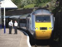 A southbound HST calls at Dundee on 5 August 2010.<br><br>[Brian Forbes&nbsp;05/08/2010]