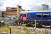 A DMU stands in the headshunt at Bristol Temple Meads on 5 August. <br><br>[Peter Todd&nbsp;05/08/2010]