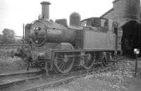 Collett 0-4-2T no 1456 on shed at Ross-on-Wye (then sub to Hereford) in the autumn of 1958. [See image 36367]<br><br>[Robin Barbour Collection (Courtesy Bruce McCartney)&nbsp;29/09/1958]