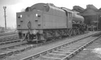 Jubilee 4-6-0 no 45558 <I>Manitoba</I> stands on Patricroft shed in April 1962. Eventually withdrawn by BR in August 1964 the locomotive was cut up at Crewe Works some 3 months later. Patricroft shed itself was officially closed on 1 July 1968 and demolished shortly thereafter.<br> <br><br>[K A Gray&nbsp;16/04/1962]
