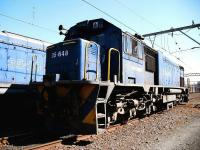 Class 35 diesel locomotives nos 648 and 209 await their next turn of duty in the busy yard at Estcourt in South Africa's KwaZulu-Natal province. <br> <br><br>[John Gray&nbsp;02/08/2010]