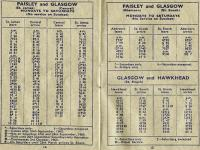 Pocket timetable for the Paisley area covering the period from 12 September 1960 to 11 June 1961. The extract includes the 'uncomplicated regular interval service' from Abercorn.... no wonder people used the bus!<br><br>[Colin Miller&nbsp;12/09/1960]