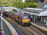 67030 arrives at Aberdour with 17.08 Edinburgh - Fife Circle service on 10 August.<br> <br><br>[Bill Roberton 10/08/2010]