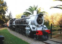 Situated in a theme park called Gold Reef City,Johannesburg is this South African Railways Class 19D 4-8-2 no 3345. Built by the North British Locomotive Company in 1948 it lasted in service until 1986. <br> <br><br>[John Gray&nbsp;05/08/2010]