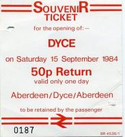 Tickets and labels 15/09/1984