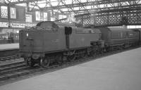 Fowler 2-6-4T no 42357 stands on the centre road at Carlisle with Royal Mail stock on 22 September 1962.<br><br>[K A Gray&nbsp;22/09/1962]
