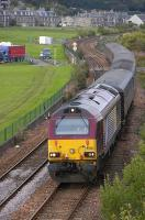67025 passes Burntisland Links on 13 August with the 17.08 Edinburgh - Fife Circle service.<br><br>[Bill Roberton&nbsp;13/08/2010]
