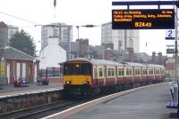 The 07.30 from Glasgow Central arrives at Ayr on 29 July in persistent drizzle. <br><br>[Colin Miller&nbsp;29/07/2010]
