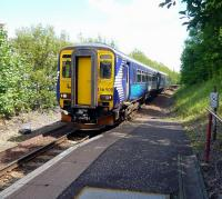 The 13.07 service from Glasgow Central arrives at Paisley Canal on a sunny 29 July.<br><br>[Colin Miller&nbsp;29/07/2010]