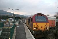 A class 67 with the Fort William sleeper from Euston at Crianlarich on 30 March 2007.<br><br>[Ian Dinmore&nbsp;30/03/2007]