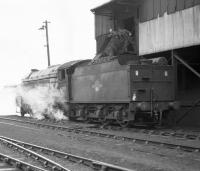 Gresley V2 2-6-2 NO 60919 being coaled at Ferryhill in the 1960s.<br><br>[Robin Barbour Collection (Courtesy Bruce McCartney)&nbsp;//]