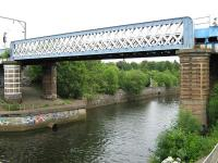 Bridge over the River Kelvin, with Partick station half a mile off to the left.<br><br>[Alistair MacKenzie&nbsp;23/06/2010]