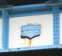 Close-up of makers plate on a section of the Kelvinhaugh Viaduct - June 2010.<br><br>[Alistair MacKenzie&nbsp;23/06/2010]