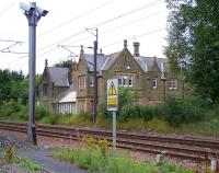 The closed station at Longhirst on the ECML between Morpeth and Widdrington, photographed in August 2010. The station lost its passenger service in 1951.<br><br>[Colin Alexander&nbsp;16/08/2010]