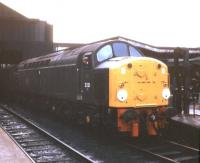EE Type 4 no D231 <i>Sylvania</i> stands with a train at Blackburn in May 1968.<br><br>[Jim Peebles&nbsp;/05/1968]