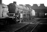 Stanier Jubilee 4-6-0 no 45552 <I>Silver Jubilee</I> stands out of use at Crewe South shed in 1963. The locomotive was officially withdrawn by BR in September 1964 and broken up at Cashmores, Great Bridge, in January 1965.<br><br>[K A Gray&nbsp;31/03/1963]