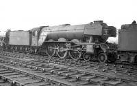 A3 Pacific no 60092 <I>Fairway</I> on shed at Gateshead in 1964. <br><br>[Robin Barbour Collection (Courtesy Bruce McCartney)&nbsp;//1964]