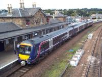 ScotRail 170 416 forms the 16.05 to Dundee, on time at Cupar on 1st September 2010.<br><br>[Andrew Wilson&nbsp;01/09/2010]