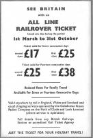 Freedom of Britain's rails from �1.79 a day.  Advertisement in the BR Scottish Region passenger timetable 7 September 1964 to 5 June 1965. But would you want to go back?<br><br>[David Panton&nbsp;07/09/1964]