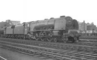 46226 <I>Duchess of Norfolk</I> standing in the yard at Kingmoor shed in April 1963. The Pacific spent her last years here being finally withdrawn by BR in September 1964.<br><br>[K A Gray&nbsp;12/04/1963]