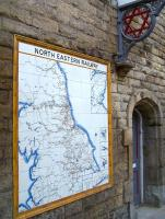 The NER tile map in the N&B station at Morpeth in August 2010.<br><br>[Colin Alexander&nbsp;16/08/2010]