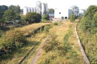Looking west over Cameron Bridge towards Thornton Junction on 3 September 2010. No obvious change here - other than the usual impression that the Diageo complex seems to have grown larger since the last visit.<br><br>[John Furnevel&nbsp;03/09/2010]