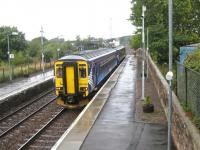 The 09.11 service to Newcastle (ex-Glasgow Central) calls at Annan on 7 September 2010.<br> <br><br>[Bruce McCartney&nbsp;07/09/2010]