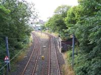 View south over the approach to the NER Tynemouth station in August 2010 [see image 21849 for an eighties view]<br><br>[Colin Alexander&nbsp;18/08/2010]