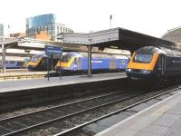 HST lineup at Paddington in August 2009.<br><br>[Ian Dinmore&nbsp;/08/2009]