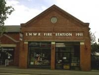 Although much of Wolverton Works has been turned into a Tesco, they kindly preserved the original works fire station. It is now a bookshop - an ironic touch for fans of the Ray Bradbury sci-fi novel 'Fahrenheit 451', in which people live in fireproof houses, and 'firemen' are employed to burn books.<br><br>[Ken Strachan&nbsp;27/08/2010]