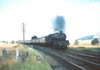 Jubilee 4-6-0 no 45578 <I>United Provinces</I> about to take a train south through Symington in August 1965. <br><br>[A Snapper (Courtesy Bruce McCartney)&nbsp;29/08/1965]