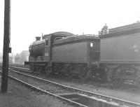 J37 no 64561 stands in the shed yard at Parkhead around 1963.<br><br>[Jim Peebles&nbsp;//1963]