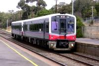 A 2-car dmu (called, I believe, 'Sprinters') northbound on the 5'3' gauge route through Kilmore East, Victoria, in May 2009. These units can operate singly or in multiple.<br><br>[Colin Miller&nbsp;28/05/2009]