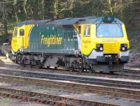 Freightliner class 70 no 70001 stands at Ipswich in May 2010. This locomotive had been sidelined due to the automatic fire extinguisher going off - note the white powder stains on the outside bodywork.<br><br>[Ian Dinmore&nbsp;/05/2010]