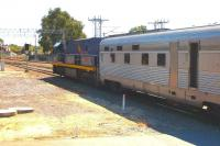 Ready for the long haul. The <I>Indian Pacific</I> preparing to leave East Perth on 24 September 2008.<br><br>[Colin Miller&nbsp;24/09/2008]
