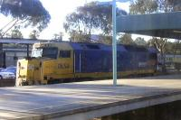 <I>Mother's little helper!</I> DL 50 waits at Adelaide Keswick on 26 September 2008 to be brought into the train for the climb out towards Broken Hill. Taken through a coach window of the <I>Indian Pacific</I> on 26 September 2008.<br><br>[Colin Miller&nbsp;26/09/2008]