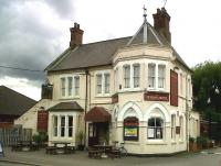 The Station Hotel, unlike the station, is still engaged in its original business; and is still named after the station. The pub sign is nice - an almost exact copy of a Don Breckon painting - so it shows a GWR pannier tank on an LNWR line!<br><br>[Ken Strachan&nbsp;27/08/2010]